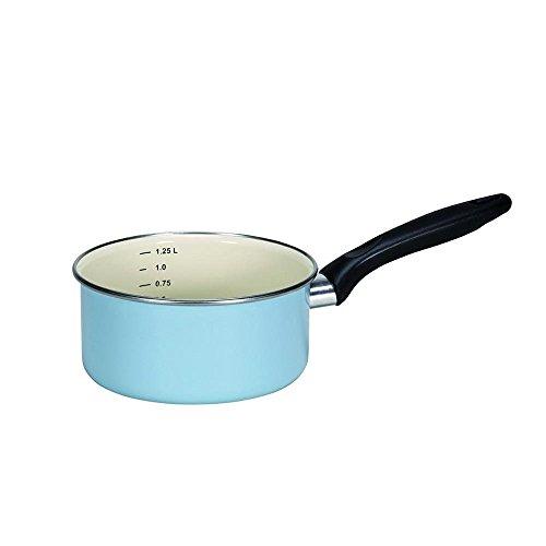 Krüger 31916PAB Sylt-Pentola con Bordo Cromato, Smalto, 16 cm, Colore: Blu
