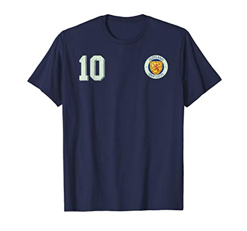 Retro Scotland Soccer Jersey Scottish Football T-Shirt 10
