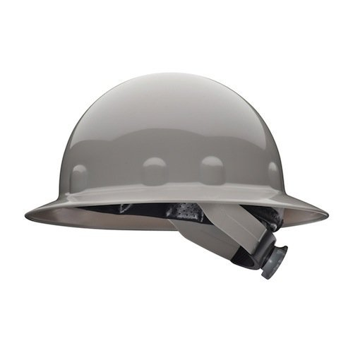 Supereight class e, g or c type i thermoplastic hard hat with full brim and 3-r ratchet suspension