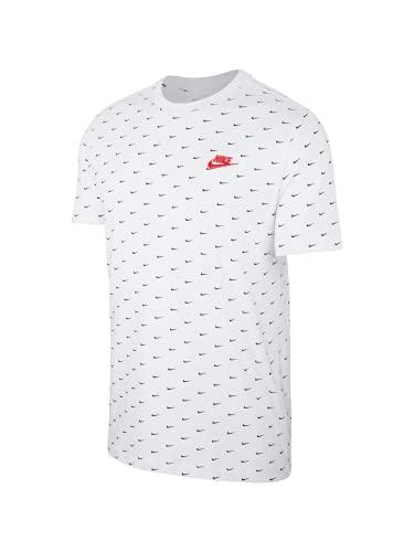 Nike Camiseta con logotipo Allover, 102 White, XS