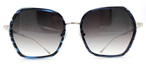 Matsuda M3078 Blue & Brushed Silver Large Womens Sunglasses