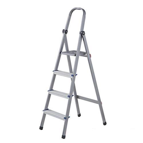 LRZLZY 4-Stufenleiter, tragbare Falten Heavy Duty Stahl Stehleitern, Küche Trittschemel mit Anti-Rutsch-Matte, 330lbs Kapazität