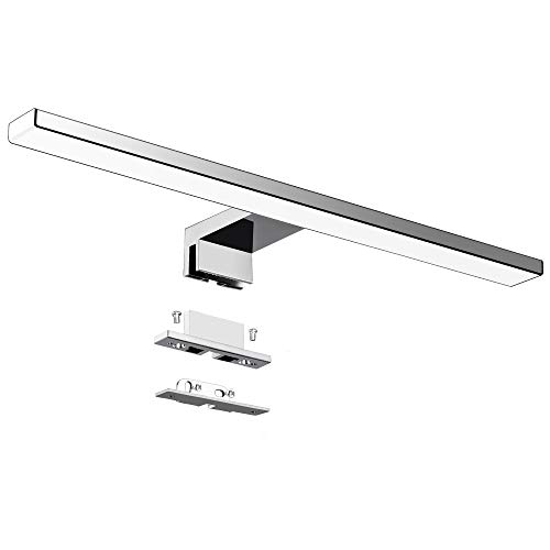 Lampara LED de Espejo 10W 820LM 40mm Lampara de Bano Azhien, Blanco Frio 6000K Lampara LED de Pared IP44 230V Luz de Espejo de Bano de Acero Inoxidable 40cm