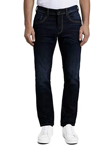 TOM TAILOR Herren Marvin Straight Jeans, Blau (Dark Stone Wash Denim 159), 36W / 34L