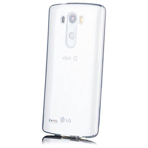 LG G3   iCues Transparent TPU Case Klar   [Bildschirm Schutzfolie Inklusive] Transparent Klarsichthülle Durchsichtig Klare Klarsicht Silikon Gel Schutzhülle Hülle Cover Schutz