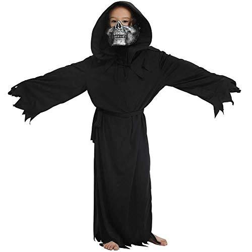 Hcxbb-b Kinderhalloweenkostuums, unisex Halloween Scary jumpsuits kostuums, hoeden en maskers
