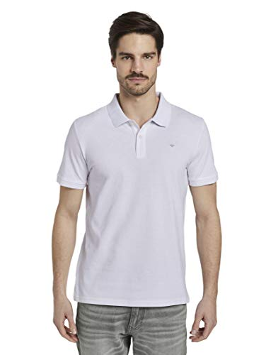 TOM TAILOR Herren Poloshirts Basic Poloshirt White,M
