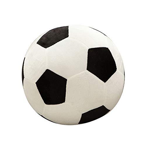 FineInno Waschbar Fußball Softball mit 23cm Durchmesser Für Kinder Jeglichen Alters im Haus, Draussen (schwarz + weiß)