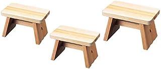 [福井クラフト] 木製風呂椅子(中)