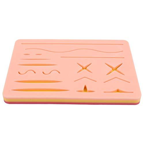 ULTECHNOVO - Cojín de sutura en sile práctico de sutura para piel precortada, heridas frmatín y manoplas de piel pura para cualquier persona que aprenda a suturar, 16 x 11 cm, 8 cm
