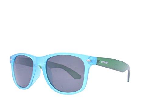 Ocean Sunglasses - Beach wayfarer - lunettes de soleil polarisées - Monture : Vert Glacé transparent/Bleu - Verres : Fumée (18202.19 )
