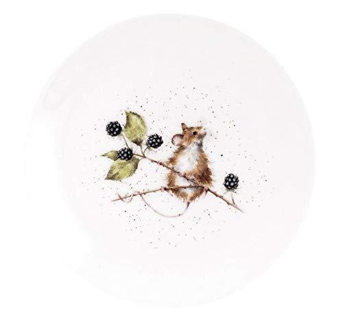 Royal Worcester Wrendale Dessertteller 20 cm in 4 Designs – Hase, Schnurrmmaus und Ente - White Mouse Plate 20cm