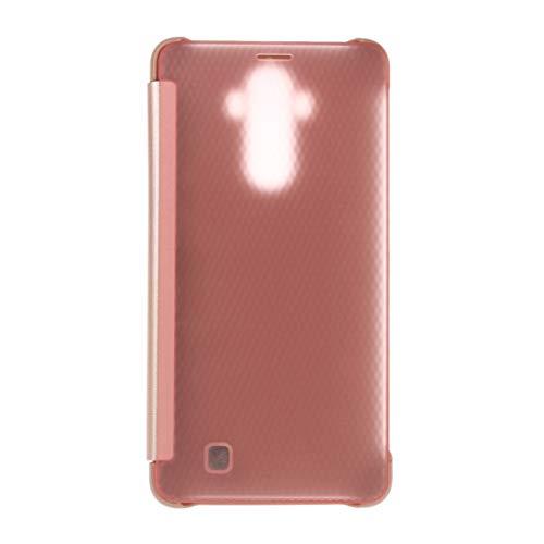 Liaoxig Fundas Huawei Huawei Mate 9 Funda de Cuero Flip Transparente Horizontal con función de suspensión/Reposo Fundas Huawei (Color : Rose Gold)