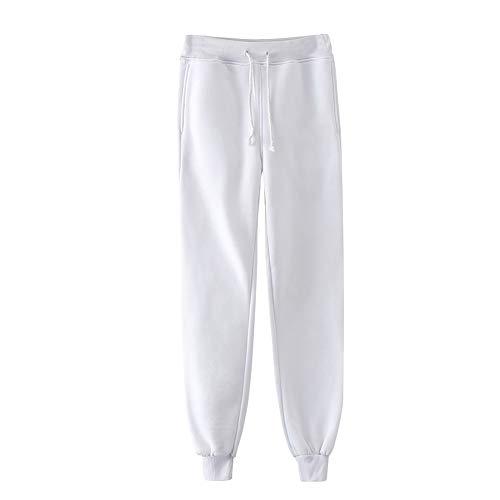 BienBien Unisex Pantalones Largos Pantalón Deportivo Casuales Pantalón de Chándal Pantalones de Jogging Cintura Elástica con Cordón Ocio Diario Pantalon para Mujer y Hombre