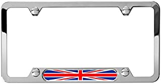 AutoStuff - Camisasca Union Jack License Plate Frame - Polished Stainless Steel
