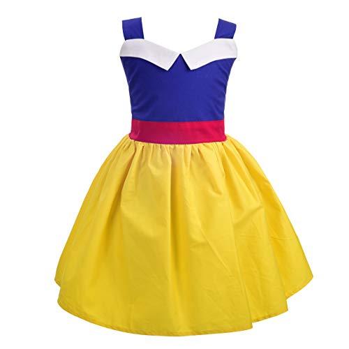 Dressy Daisy Princess Dress Up Costume Halloween Birthday Parties Apron Summer Dresses for Little Girls Size 5
