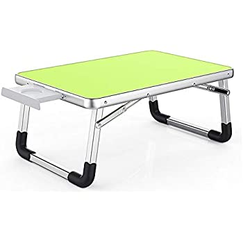 Contempo Views Laptop Bed Desk Table Foldable Tray -Use on The Coach, Floor, Bed - Reading, Writing, Drawing, Computing, Eating (Green x 2)