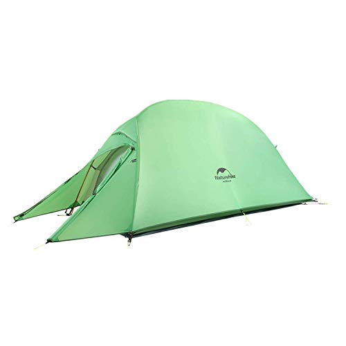 Naturehike Cloud-Up 2 Person Lightweight Backpacking Waterproof Tent Easy Setup - 4 Season for Outdoor Camping,Backpacking,Hiking,Mountaineering Travel(Forest Green(20D Nylon))…