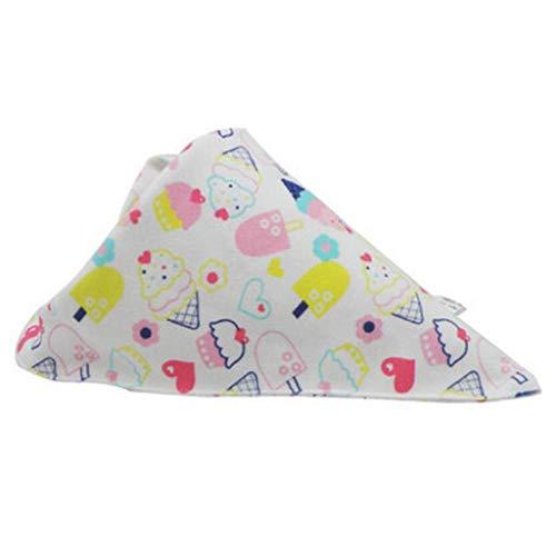 Sccarlettly Living House Baby Triangle Coton Double Casual Chic Bavoir Enfant Printemps Et Été (Couleur A Taille 1 Pcs) (Color : C, Size : 1 Pcs)