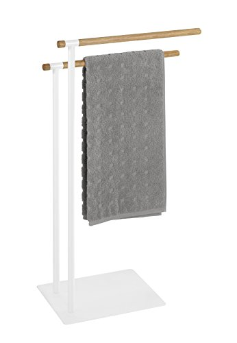 Wenko 22510100 Handtuchständer Macao - Kleiderständer, Stahl, 43 x 79 x 24 cm, Weiß