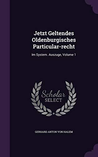 Jetzt Geltendes Oldenburgisches Particular-Recht: Im System. Auszuge, Volume 1