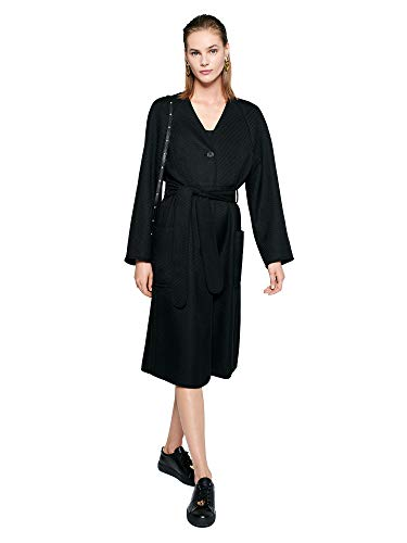 Escada Sport Mantel aus Woll-Twill mit Gürtel Minoka 36 A001 Black
