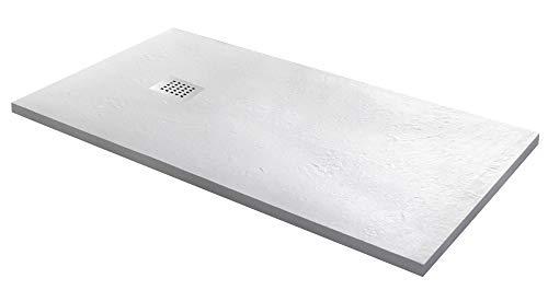 Piatto Doccia in Pietra 70x100 cm Bonussi Ardesia Stone Side Bianco