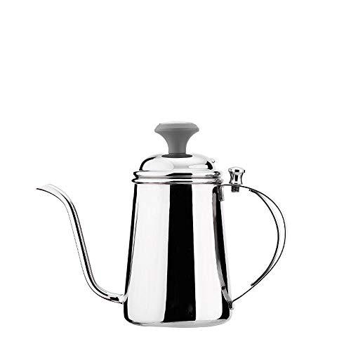 Handgebrühter Kaffee feiner Mund Topf Edelstahl Haushalt feiner Mund Topf Tee Herstellung Ausrüstung mit Thermometer Lange Mund Topf
