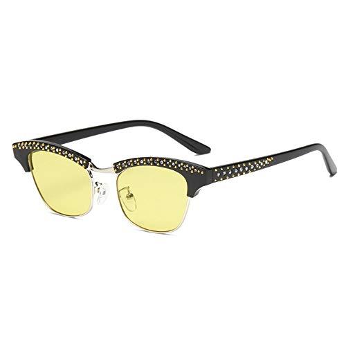 ZzheHou Gafas De Sol para Mujer Marco de Diamante pequeño de Las...
