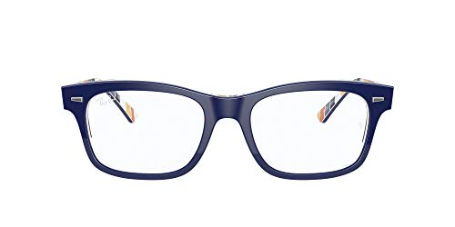 Ray-Ban 0rx5383 Gafas, BLUE ON STRIPES ORANGE/BLUE, 52 Unisex
