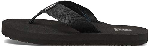 Teva Women's Mush II Flip Flop,Fronds Black,6 M US