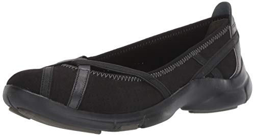 Clarks Women's Berry Loafer Flat, Black, 5 M US