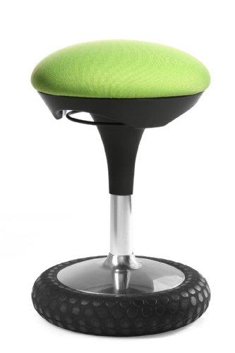 Topstar Sitness 20, ergonomischer Sitzhocker, Arbeitshocker, Bürohocker mit Schwingeffekt, Sitzhöhenverstellung, Bezug apfelgrün