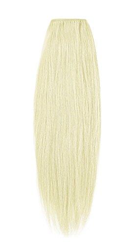 American Dream Remy 100% cheveux humains 35,6 cm soyeuse droite Trame Couleur 60 – Blond Pur