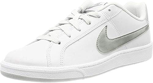 Nike Wmns Court Royale, Scarpe da Tennis Donna, Bianco (White/Metallic Silver 100), 44.5 EU