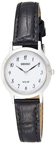 Seiko Women's Analogue Solar Powered Watch with Leather Strap SUP369P1