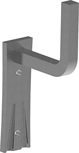 Fenau | Handlaufhalter | mit Ronde 105x40x4 mm | zum Anschweißen | Stahl S235JR, roh | Handlaufträger Schmiedeeisen für Handlauf/Balkongeländer oder Treppengeländer