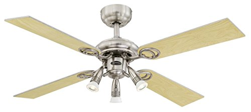 Westinghouse Lighting Pearl Ventilador de Techo GU10, Plateado
