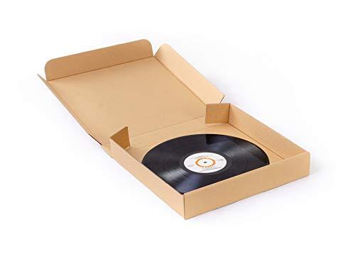 """20 scatole in cartone rigido per spedire dischi in vinile (capienza 7 dischi 12"""")"""