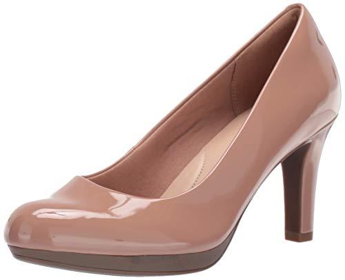 Clarks Women's Adriel Viola Shoe, Praline Synthetic Patent, 60 W US