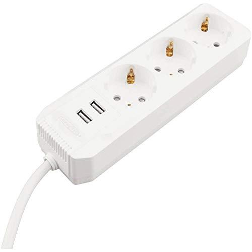 Onbekend Caliber Audio Technology HPS2301U stekkerdoos zonder schakelaar 3-voudig wit geaard