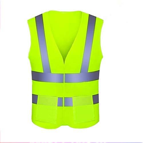 Warnwesten Auto 4 Stück,Huttoly Warnweste Sicherheitsweste,Warnweste Neon Gelb Knitterfrei Waschbar,Reflektorweste Warnweste Warnwesten Set Pannenweste EN 471, 360 Grad Reflektierende Schutz Weste