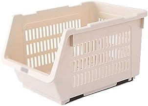 SKGOFGODcw Home Storage Bins Can Stack Storage Baskets, Plastic Storage Baskets, Toy Snacks and Vegetable Racks, Suitable ...
