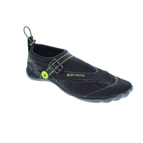 Body Glove Men's Realm Water Shoe, Black/NEON Yellow, 12