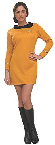 Rubie's Damen Star Trek Classic Deluxe Dress Kostüme für Erwachsene, Gold, Small