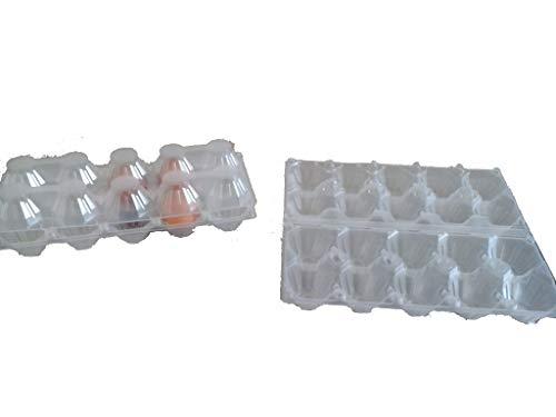 Generico 50 contenitori da 10 Uova in plastica