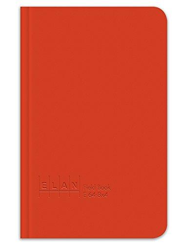 Elan Publishing Company E64-8x4 Field Surveying Book 4 ⅝ x 7 ¼, Bright Orange Cover
