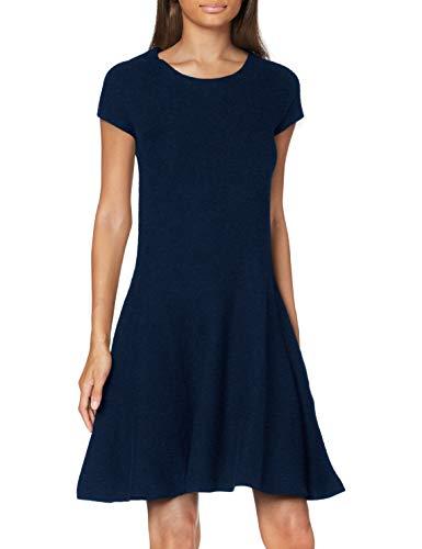 United Colors of Benetton Damen Vestito Kleid, Blau (Blu 852), Medium