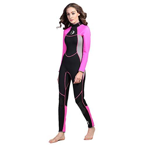 Overmal Damen Ganzkörperansicht Badeanzug Overall Wetsuit, Frauen Premium Neopren 3 mm Sunblock Neoprenanzug für Tauchen Surfen Schwimmen Ganzkörper, Rash Guard Badeanzug Badebekleidung