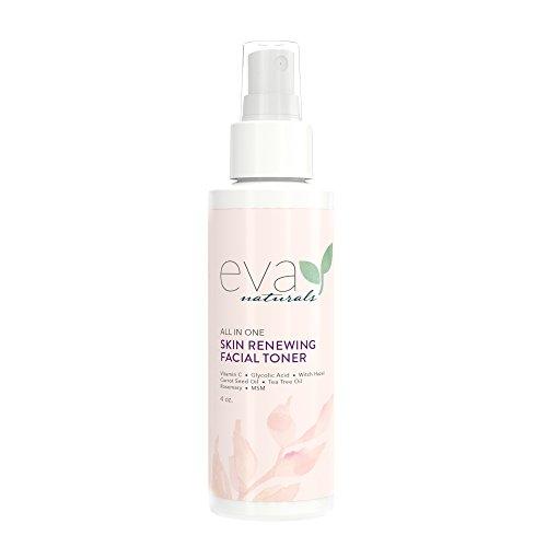 Eva Naturals All-In-One Skin Renewing Toner (120 ml) – Hydratisierendes Gesichtswasser - Hautreiniger zur Aufhellung und Bekämpfung von Akne – mit Vitamin C, Lavendel und Bienenpropolis